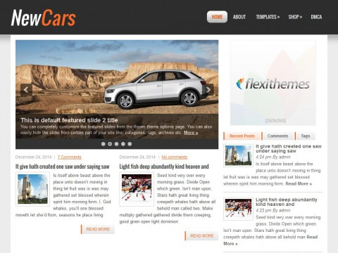NewCars WordPress Theme