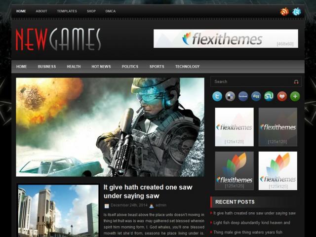 NewGames Theme Demo