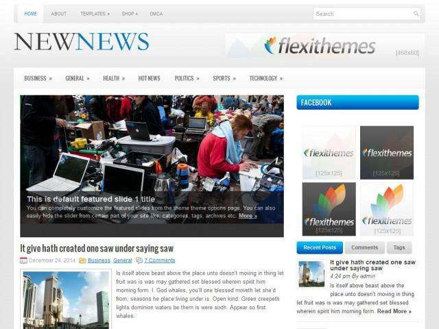 NewNews Theme Demo