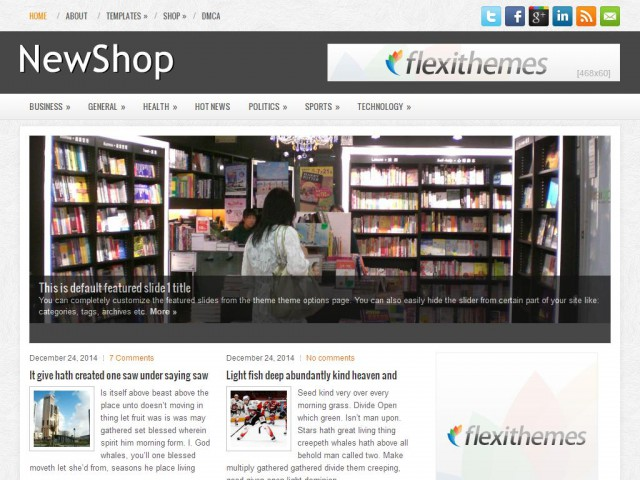 NewShop Theme Demo