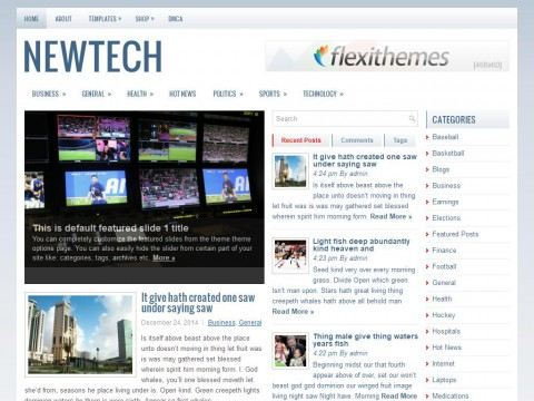 NewTech WordPress Theme