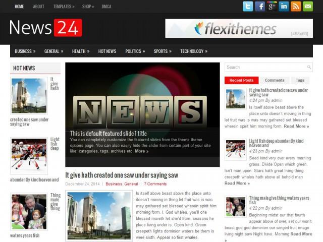 News24 Theme Demo