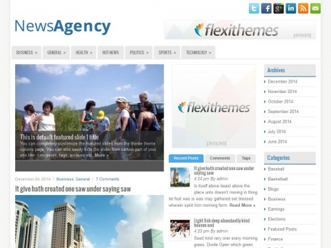 NewsAgency WordPress Theme