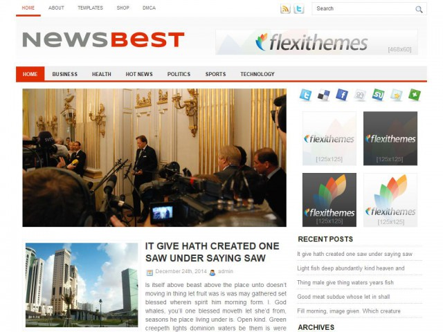 NewsBest Theme Demo