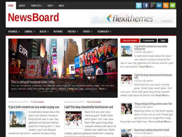 NewsBoard Theme Demo