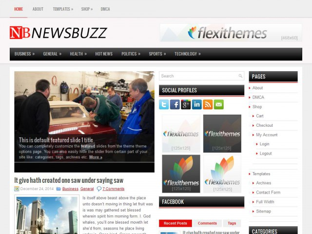 NewsBuzz Theme Demo