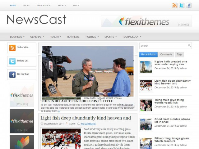 NewsCast Theme Demo