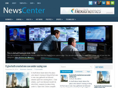 NewsCenter WordPress Theme