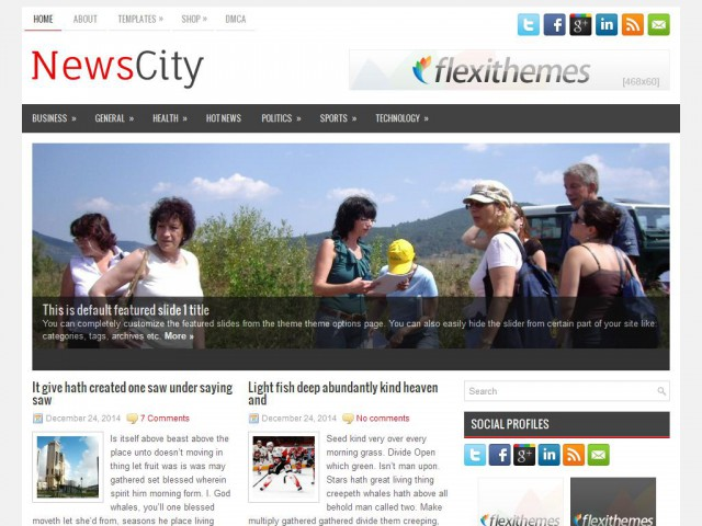 NewsCity Theme Demo