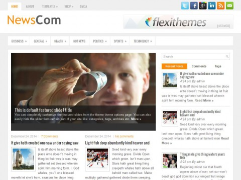 NewsCom WordPress Theme