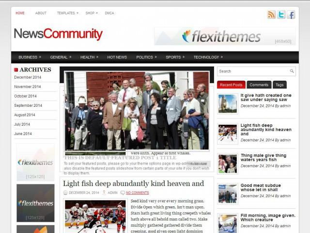 NewsCommunity Theme Demo