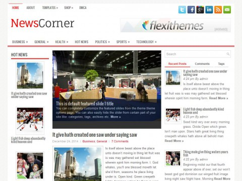 NewsCorner WordPress Theme