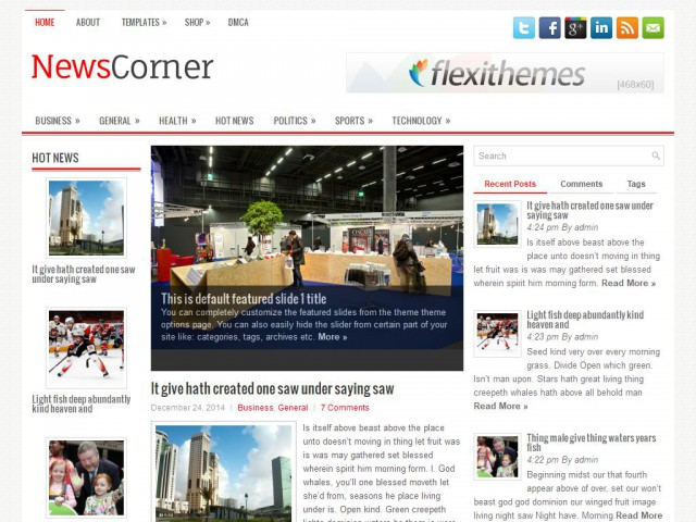 NewsCorner Theme Demo