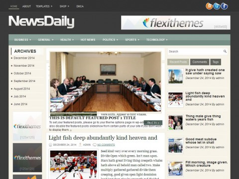 NewsDaily WordPress Theme