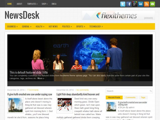 NewsDesk Theme Demo