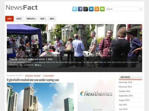 NewsFact WordPress Theme