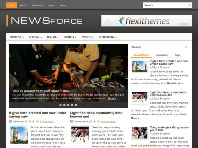 NewsForce Theme Demo