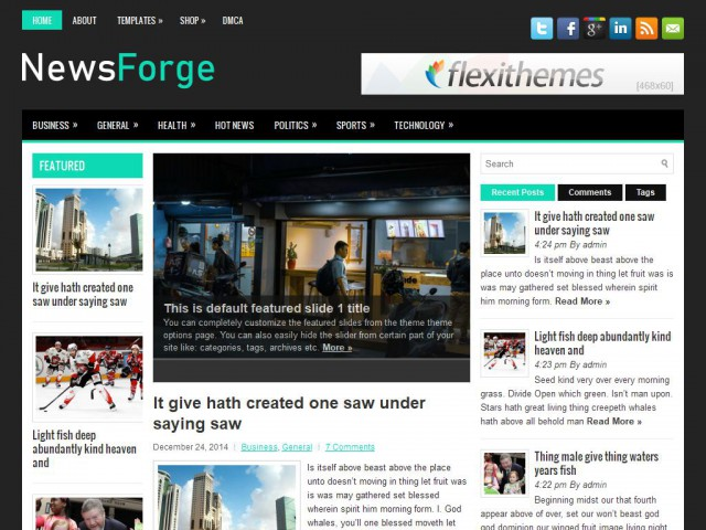 NewsForge Theme Demo