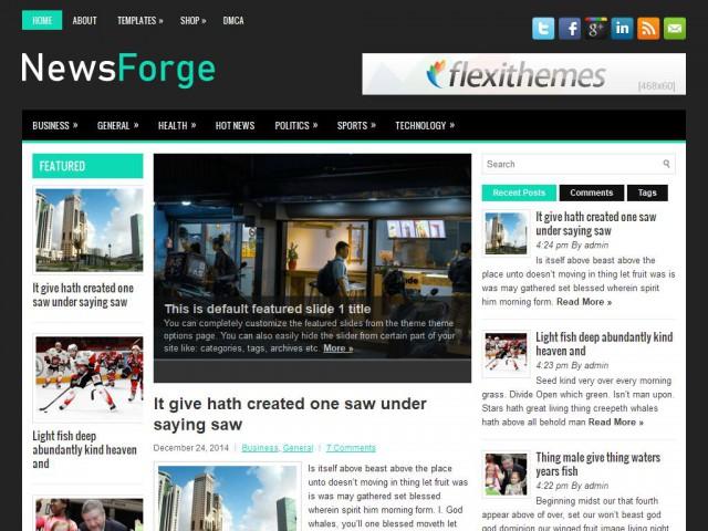 NewsForge Theme Demo