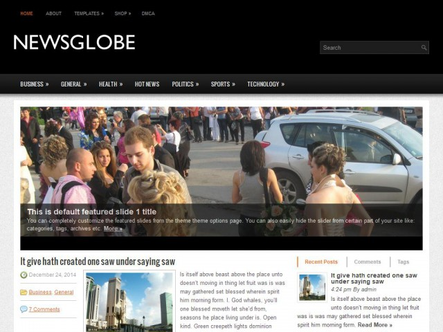NewsGlobe Theme Demo