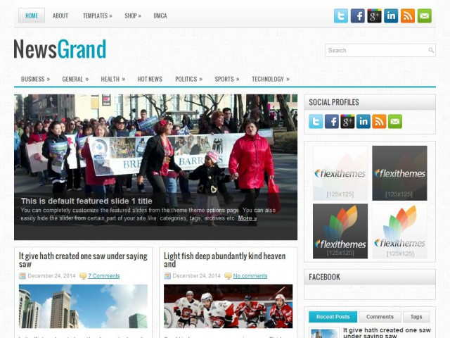 NewsGrand Theme Demo