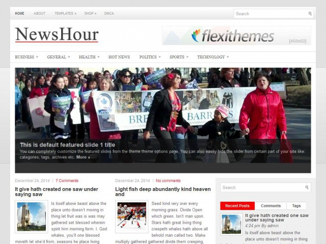 NewsHour Theme Demo