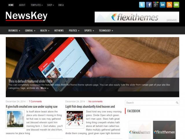 NewsKey Theme Demo
