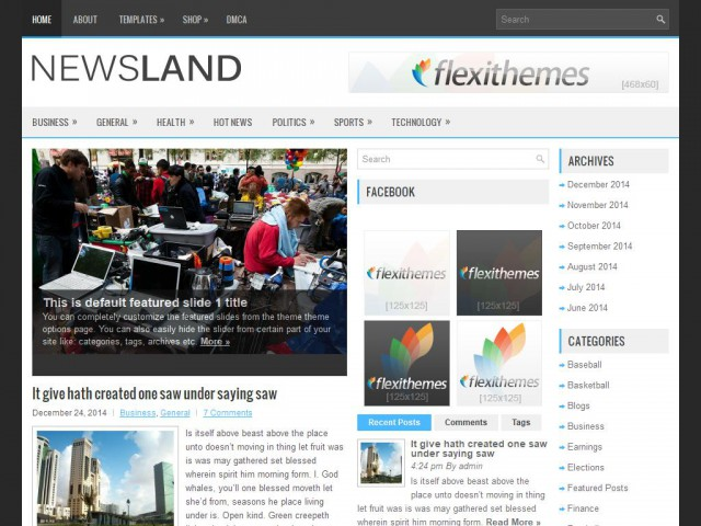 NewsLand Theme Demo