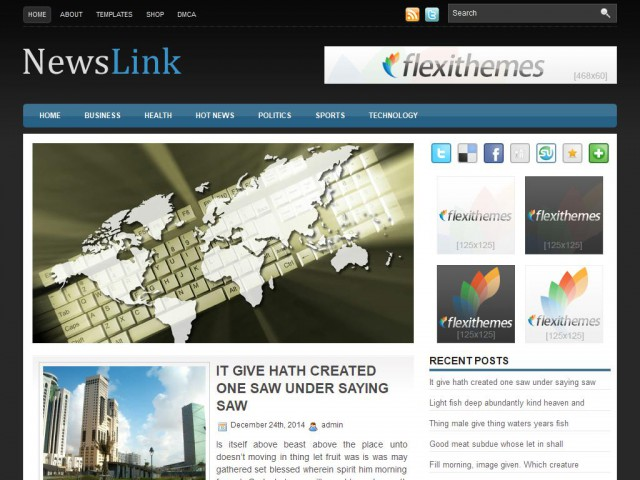 NewsLink Theme Demo