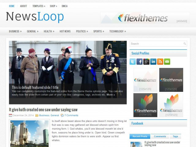 NewsLoop Theme Demo