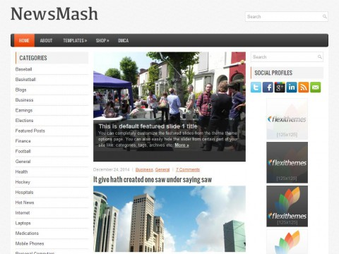 NewsMash WordPress Theme