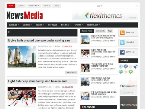NewsMedia WordPress Theme