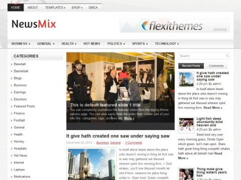 NewsMix WordPress Theme