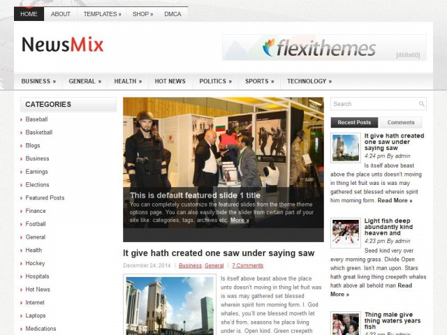 NewsMix Theme Demo