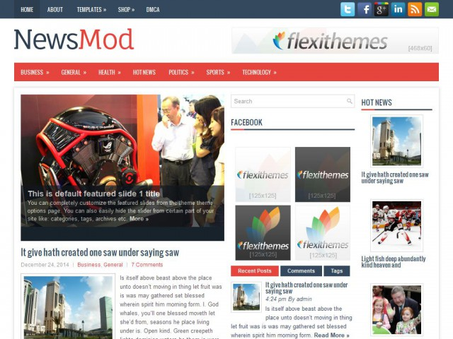 NewsMod Theme Demo