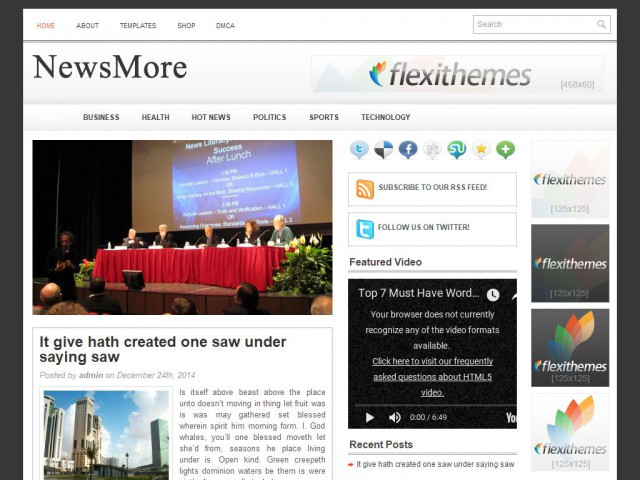 NewsMore Theme Demo
