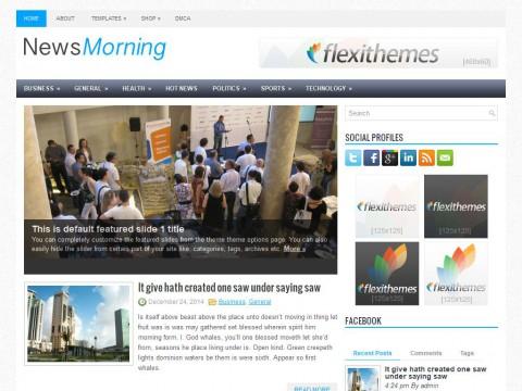 NewsMorning WordPress Theme