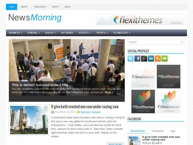 NewsMorning Theme Demo
