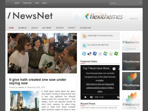 NewsNet WordPress Theme