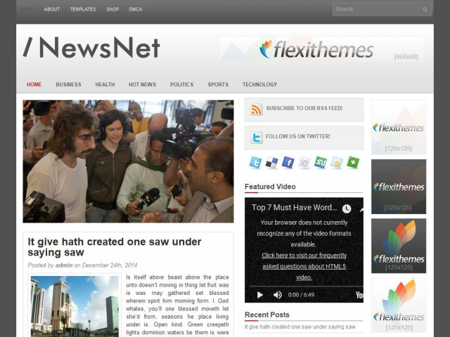 NewsNet Theme Demo