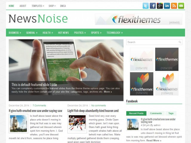NewsNoise Theme Demo