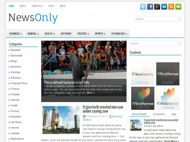 NewsOnly Theme Demo