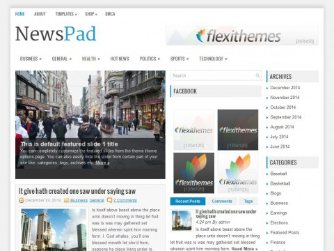 NewsPad WordPress Theme