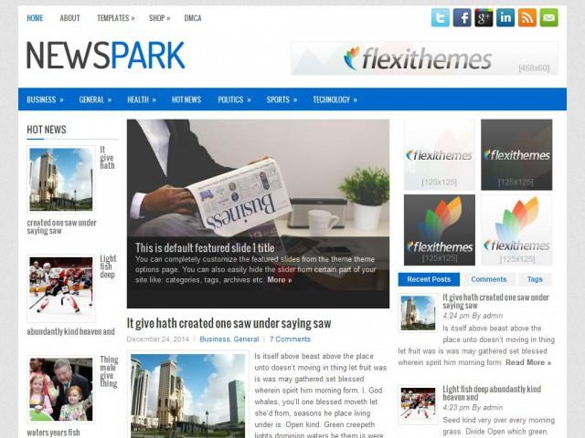 NewsPark Theme Demo