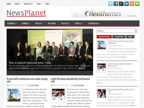 NewsPlanet WordPress Theme