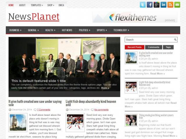NewsPlanet Theme Demo