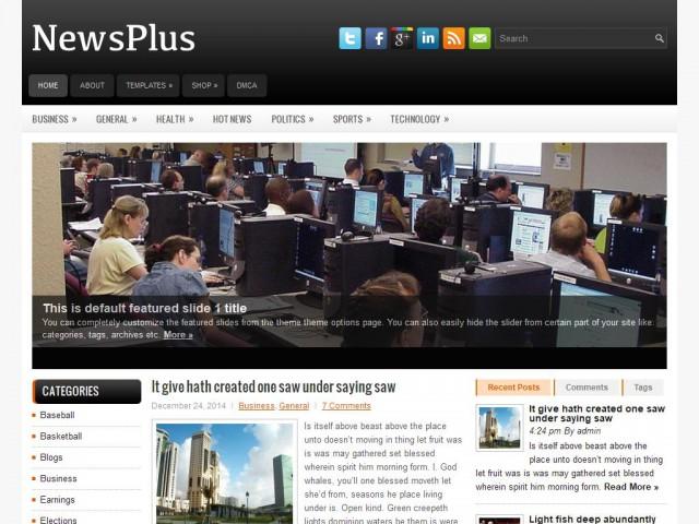 NewsPlus Theme Demo