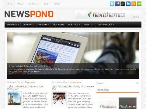NewsPond WordPress Theme