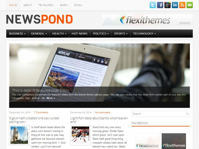 NewsPond Theme Demo