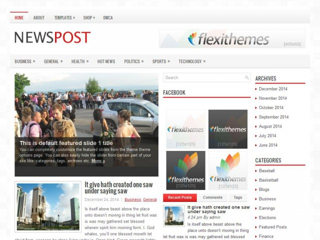 NewsPost Theme Demo